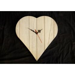 Orologio a cuore in legno massello -  Accessori - Diroshop