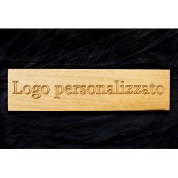 Targa con logo in legno massello di iroko -  Accessori - Diroshop