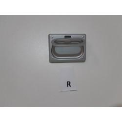 maniglia pendolo incasso, in zama finitura verniciato alluminio -  Ferramenta - Diroshop