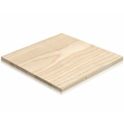 LISTELLARE  FRASSINO 18 MM 2.50 CM X 1.20 CM -  pannello listellare rivestito in legno - Diroshop