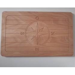 Tavolo per barca pantografato in okume 18 mm 90 x 58 -  Tavoli Barca - Diroshop