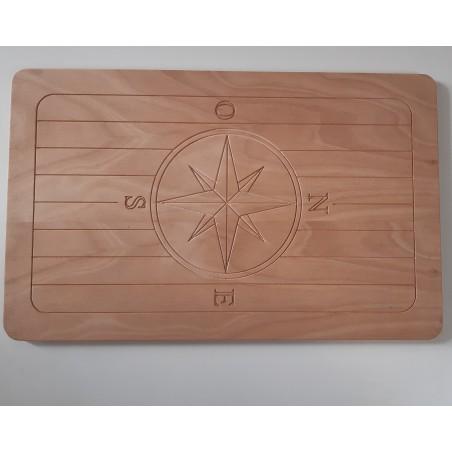 Tavolo per barca pantografato in okume 18 mm 90 x 58