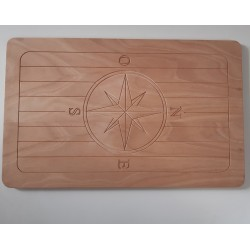 Tavolo per barca in okume pantografato 70 x 40 x 18 mm -  Tavoli Barca - Diroshop
