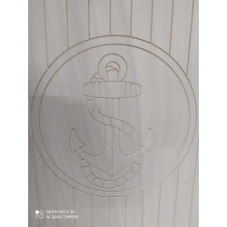 TAVOLO BARCA IN MULTISTRATO OKUME ANCORA BARCA 90 X 58 CM -  Accessori Marini Tavoli Barca - Diroshop